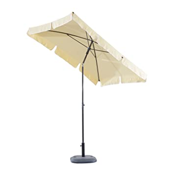 Outsunny 16CW Garden Beach Rectangular Tilting Parasol in