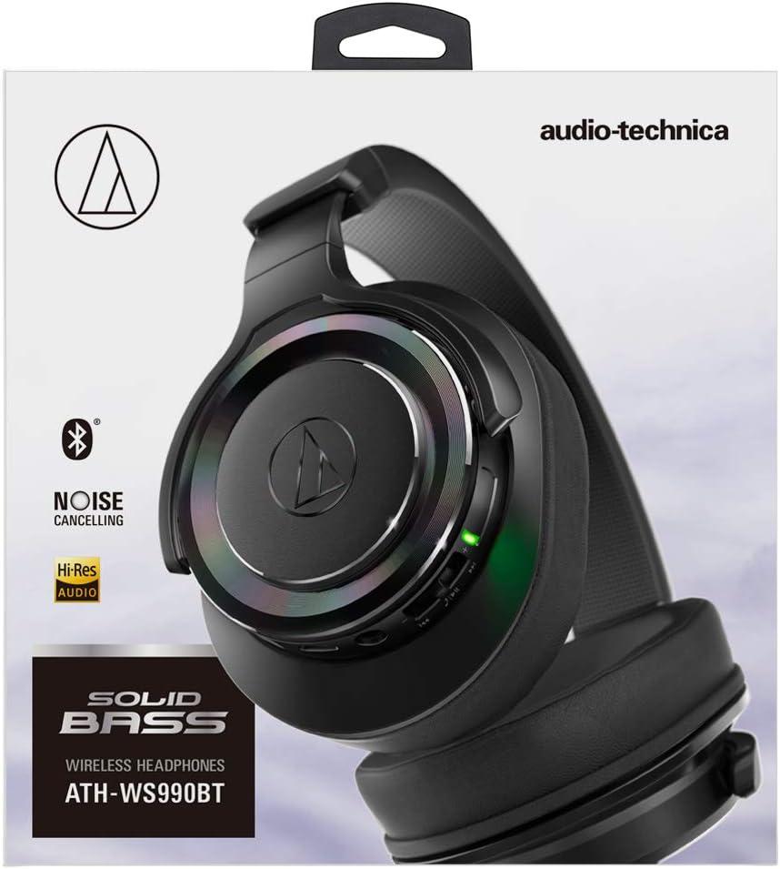 audio-technica ATH-WS990BT BK SOLID BASS Bluetooth Wireless Headphones Black