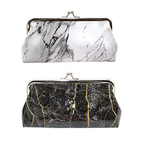 92f26ed95873 Amazon.com: Oyachic 2 Packs Marble Coin Purse Large Change Purse ...