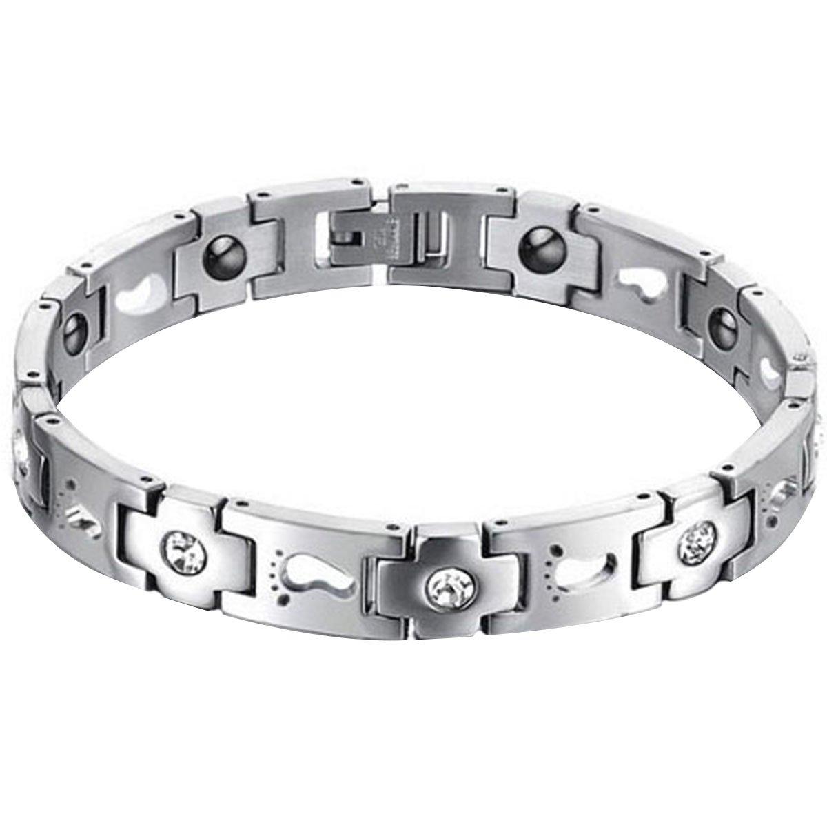 Neues Magnetarmband Edelstahlarmband Armband Edelstahl Gravur bracelet 21 cm