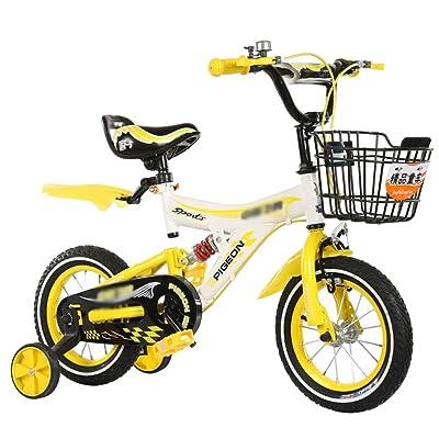 HAIZHEN Vélos et Véhicules pour enfants Vélo de fille avec roues d'entraînement et panier, cadeau parfait pour les enfants. 12 pouces, 14 pouces, 16 pouces, 18 pouces, jaune bleu rouge pour 2-10 ans
