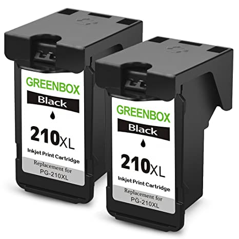 GREENBOX Remanufactured Ink Cartridge Replacement For Canon PG 210XL 210 XL