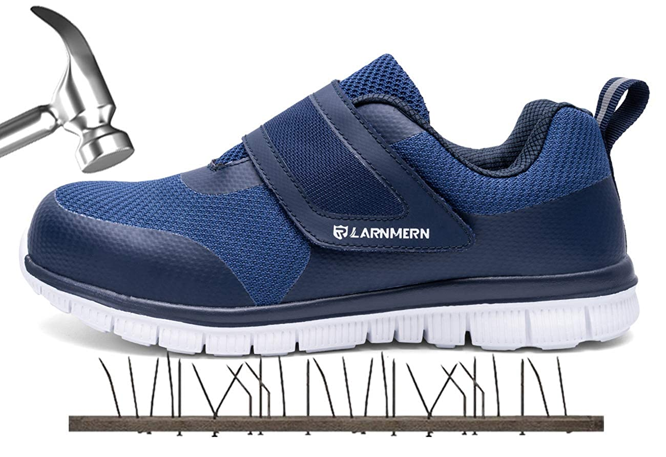 LARNMERN Steel Toe Work Shoes Mens Womens,LM-23 Safety Shoes Lightweight Breathable Casual Protection Footwear