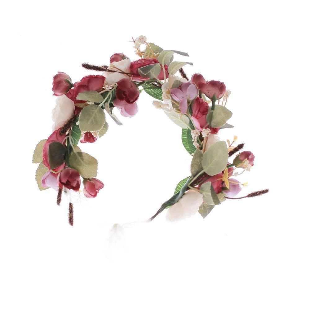 Stirnband mit verstellbarem Band f/ür Frauen oder M/ädchen als Haarschmuck Ever Fairy/® Blumenkrone
