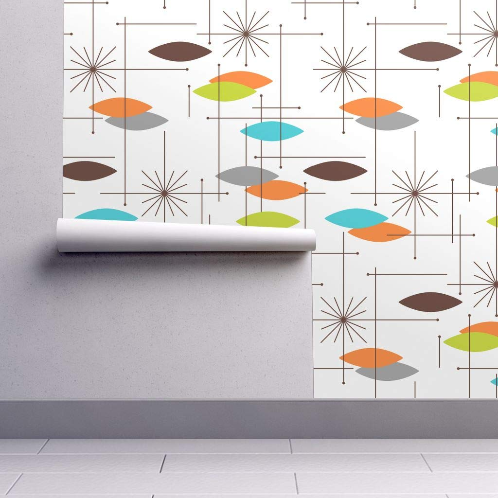 Mid Century Modern Wallpaper Sample Swatch Mcm Retro Space