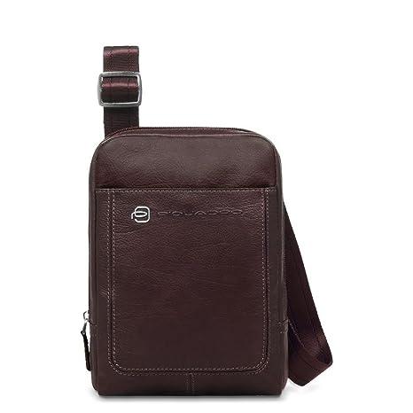 e257c5eb71 Piquadro Vibe borsello con porta iPad mini, Testa di Moro - CA3084VI ...