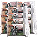 Grizzly Gear Emergency Thermal Blankets- NASA Mylar Waterproof Heat Retaining Survival Blankets (12 Pack)- For Hiking, Camping, Car and More