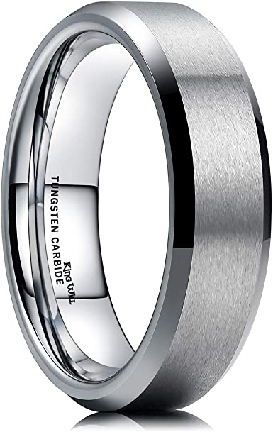 Men Matte Finish Black Tungsten Steel Ring Wedding Anniversary Band 8MM Size O-Y