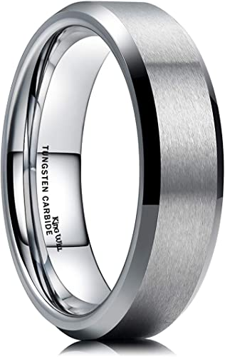 King Will 6mm Wedding Band For Men Tungsten Carbide Ring