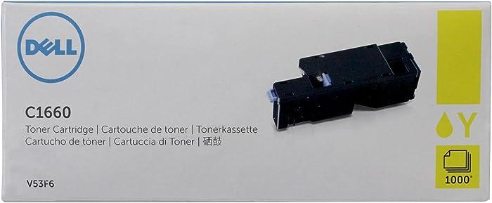 Dell V53F6 Yellow Toner Cartridge C1660w Color Printer