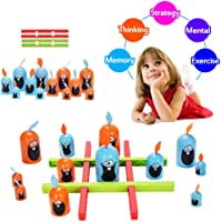 guoYL26sx Baby Toys 12Pcs Cartoon Gobblet Gobblers Chess Board Brain Teaser Interactive Kids Toy
