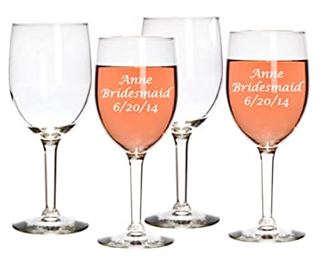 gifts infinity wine glasses 10 oz set of 4 - Etched Wine Glasses