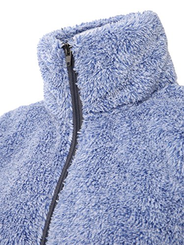 JayJay Women Active Ultra Soft Fur Fleece Long Sleeve Jersey Jacket