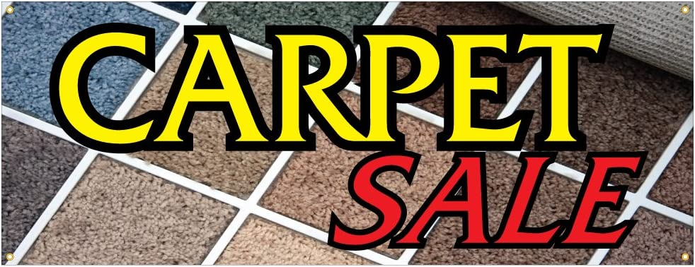 Amazon Com Carpet Sale Banner Flooring Carpeting Rugs Full Room Whole House Retail Store Sign 18x48 Office Products