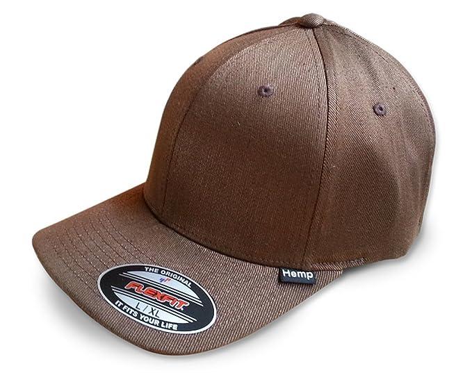 6b082e9ac85 Hemptopia Men s Brown Hemp Cap in Small Medium Flexfit Size at ...