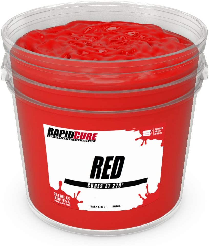 Quart Low Temperature Fast Curing Ink by Screen Print Direct Rapid Cure Red Plastisol Ink for Screen Printing