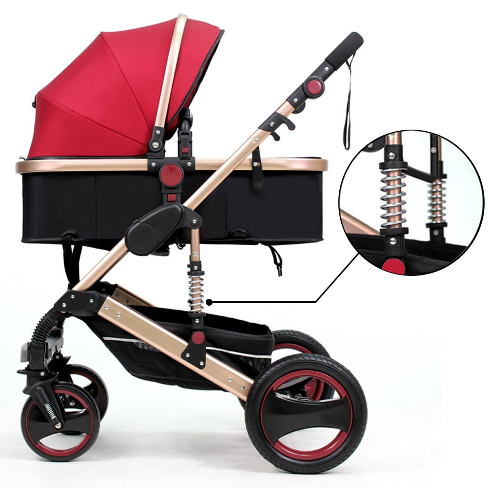 amazoncom belecoo luxury newborn baby foldable antishock high view carriage infant stroller pushchair pramred baby