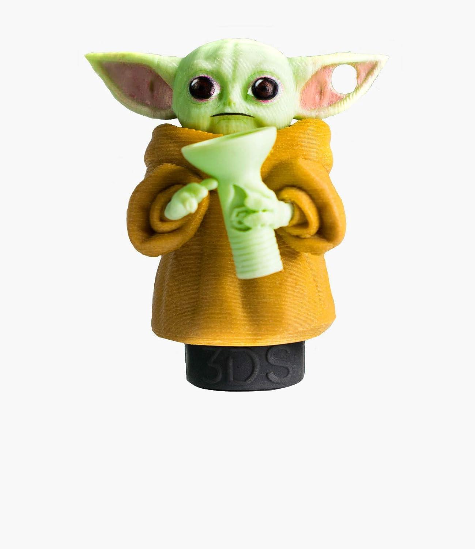 Boquilla 3D personal para shisha o cachimba marca 3D Sapiens - Modelo: Baby Yoda