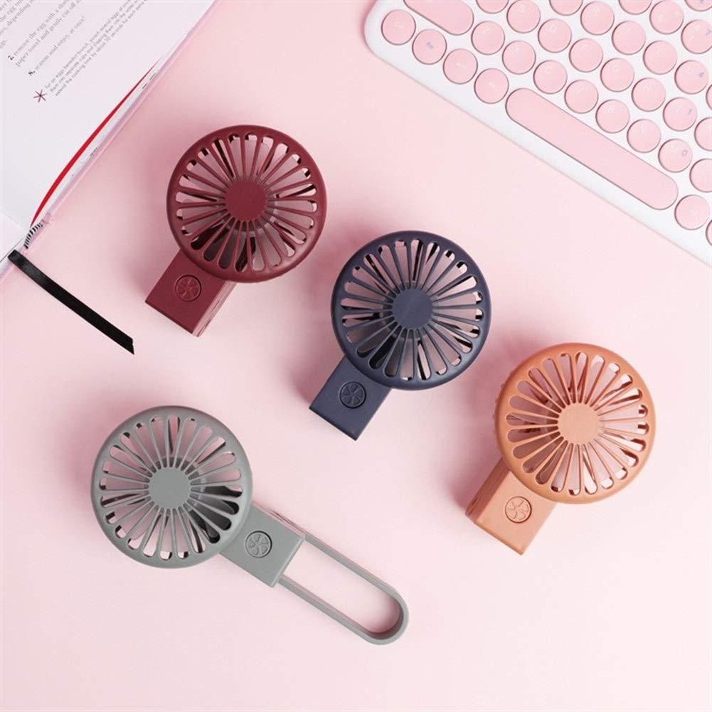 Color : 04 Mini Fan Portable Desktop Fan USB Fan Folding Pocket Fan Portable USB Charging with Light 7 Leaf Mini Fan
