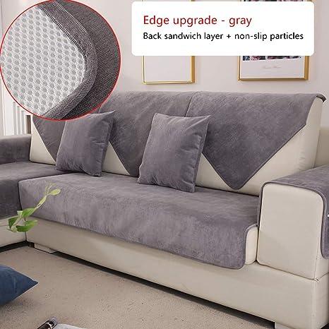 KMILE Cubiertas del sofá para la Sala de Estar,Color Liso ...