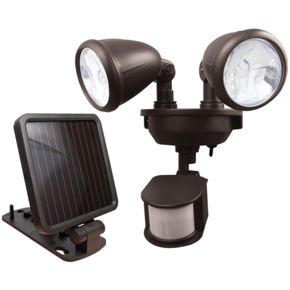 MAXSA INNOVATIONS 44216 Dual-Head Solar Spotlight (Dark Bronze) consumer electronics Electronics