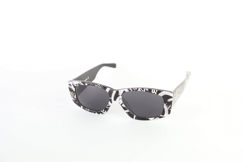 Moschino MO-818S-02 Gafas de Sol, Black/White, 57 para Mujer