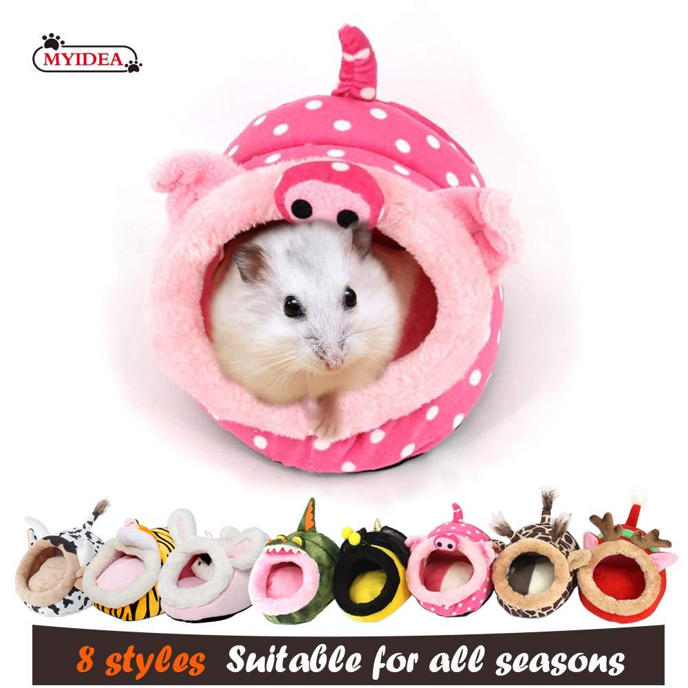 Lightweight Portable Habitat Durable MYIDEA Warm Guinea Pigs Bed,Hedgehog Winter Nest,Rat Chinchillas /& Small pet Animals Bed//Cube//House Cushion Big Mat