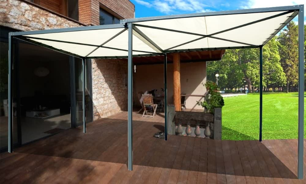 habrita – habrita – Carport Pergola extensible simple-double: Amazon.es: Jardín