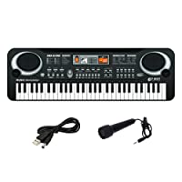 61 Key Digital Music Electronic Keyboard Children Toy Electric Piano Set With Microphone