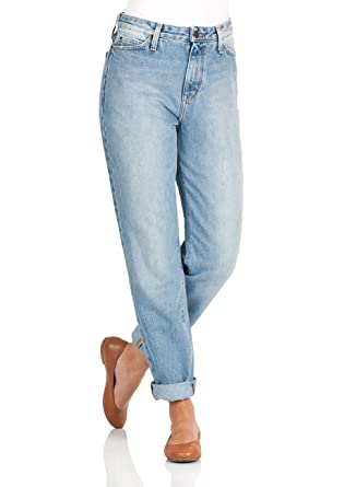 3f93ce6c969f Lee Damen Jeans Mom - Straight Fit - Blau - Dusk Vintage, Größe W 30 L 33,  Farbe Light Stone Wash (ZQ)  Amazon.de  Bekleidung