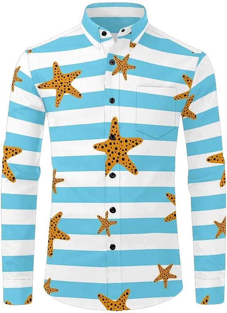 INTERESTPRINT Camisa de Manga Larga con Botones Negros para Hombre - - X-Large: Amazon.es: Ropa y accesorios