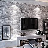YC Sala de estar retro imitación ladrillo piedra grano fondos 3D TV pared papel ropa tienda proyecto Hotel wallpaper , 08140#