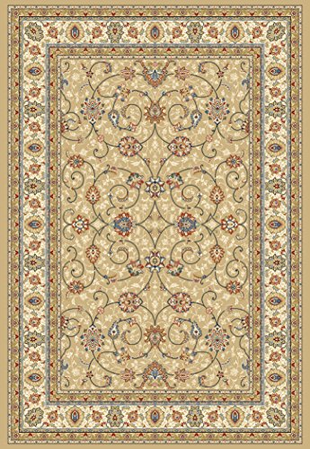 """Dynamic Rugs AN24571202464 Ancient Garden Collection Runner Rug, 2' by 3'11"""", Light Gold/Ivory from Dynamic Rugs"""