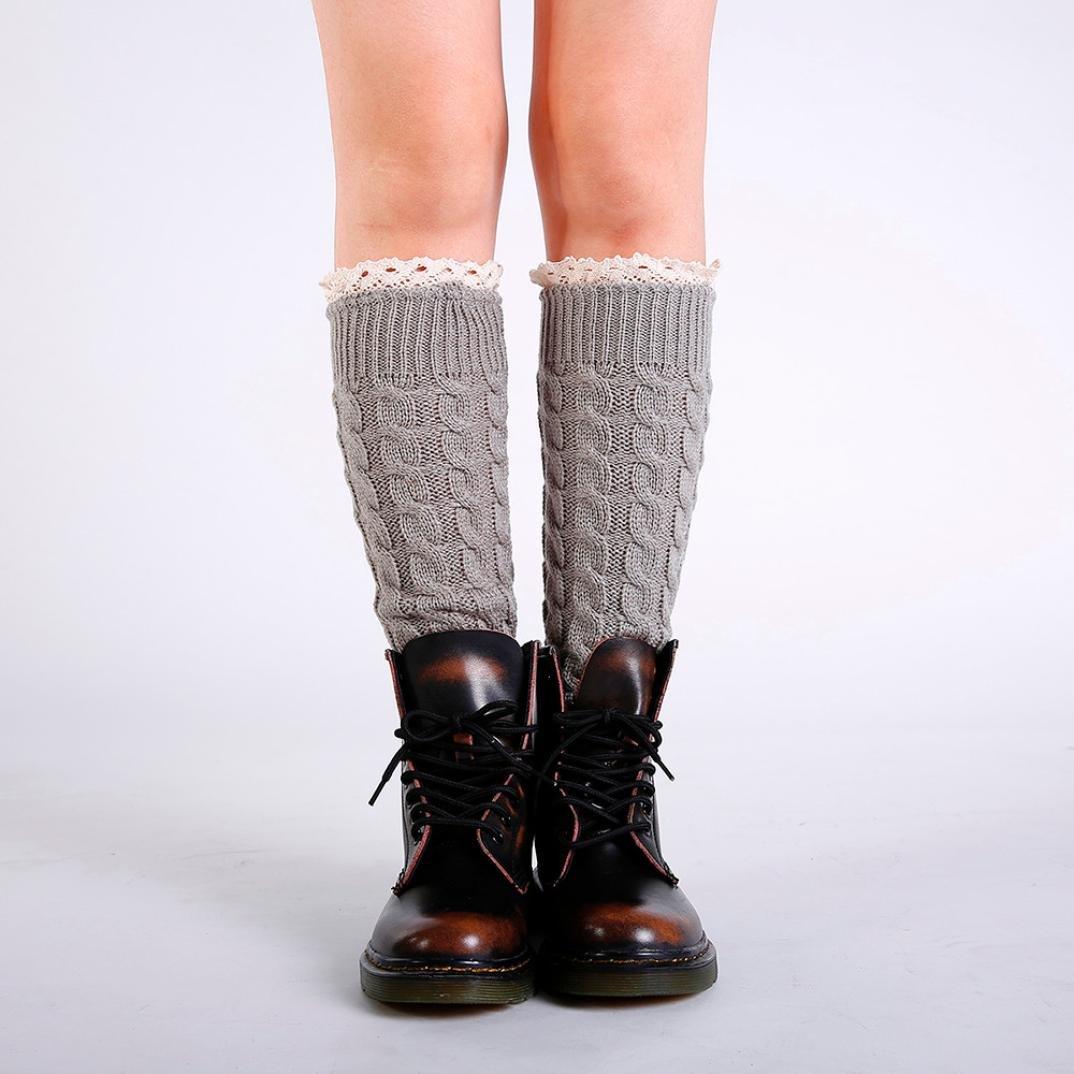 ... Honhui Lady Winter Warm Leg Warmer Knit Crochet Twist Lace Slouch Boot  Socks ... 498c9fb99e84