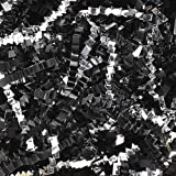 1 LB. Crinkle Shred Paper and Metallic Blend (Black Paper/ Silver Metallic)