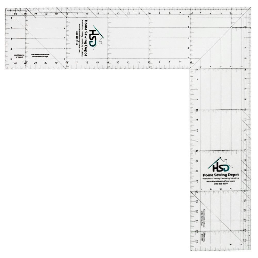 Home Sewing Depot 24 Inch Folding Square Ruler by Home Sewing Depot