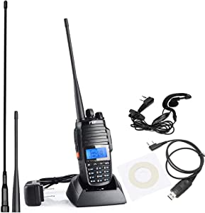 TH-UV8000D Ultra-high Output Power 10W Long Range Walkie Talkies, with Cross-Band Repeater Function Dual Band Dual Display Dual Standby Two Way Radio, with USB Programming Cable and 2 Antennas