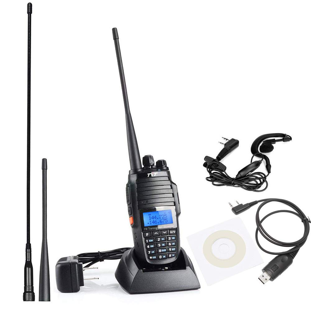 TYT TH-UV8000D Ultra-high Output Power 10W Long Range Walkie Talkies, with Cross-Band Repeater Function Dual Band Dual Display Dual Standby Two Way Radio, with USB Programming Cable and 2 Antennas