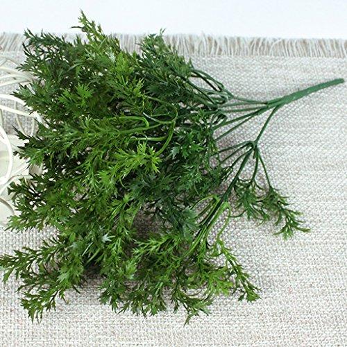 Blesiya Green Artificial Plastic 6-Branch Parsley Grass Office Home Wedding Decor