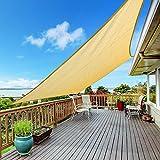 CoolYard UV Block Sun Shade Sail, Outdoor Canopy Desert Sand Sun Shade Sail, Perfect for Patio Lawn Garden Backyard , 20FT X 20FT