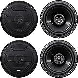 (4) Hifonics ZS653 6.5 1200 Watt Car Stereo Coaxial Speakers