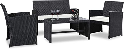 Casart 4PCS Rattan Patio Furniture Set