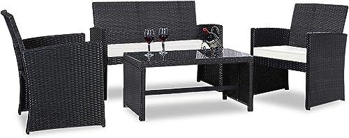 Casart 4PCS Rattan Patio Furniture Set