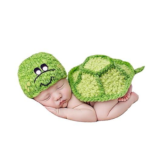 Madicn Baby Foto Stütze Schildkröte Form Outfit Kleidung Stricken