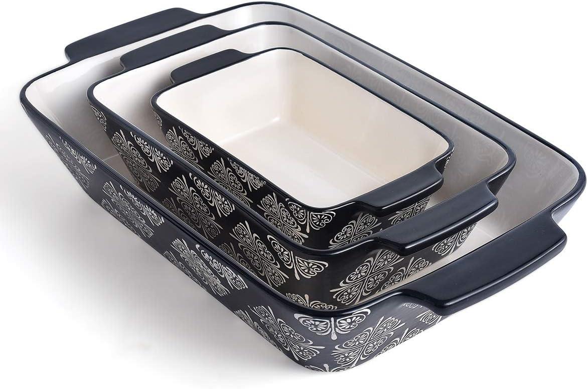KINGSBULL HOME Baking Dish Ceramic Casserole Dish Baking Bakeware Sets, Baking Pan
