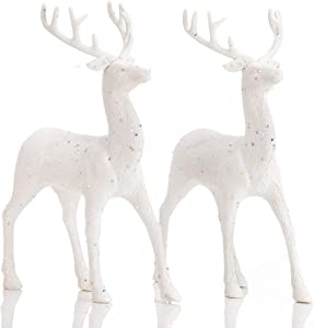 ARCCI Standing Reindeer Decorations Christmas Deer Figurines, 8.6