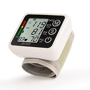 Muñeca Tensiómetro, elegiant Digital LCD Tensiómetro – Tensiómetro de presión arterial Monitor de Presión Arterial