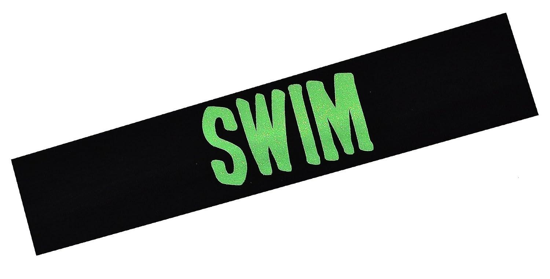 水泳Glitterコットンストレッチヘアバンド~ Funny Girl Designs ( 2インチグリーン)   B00ZGEYVNM