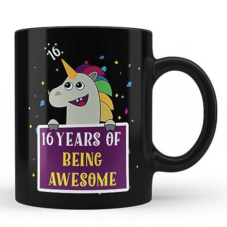 Amazon.com: 16º cumpleaños Taza – Unicornio Regalos de ...