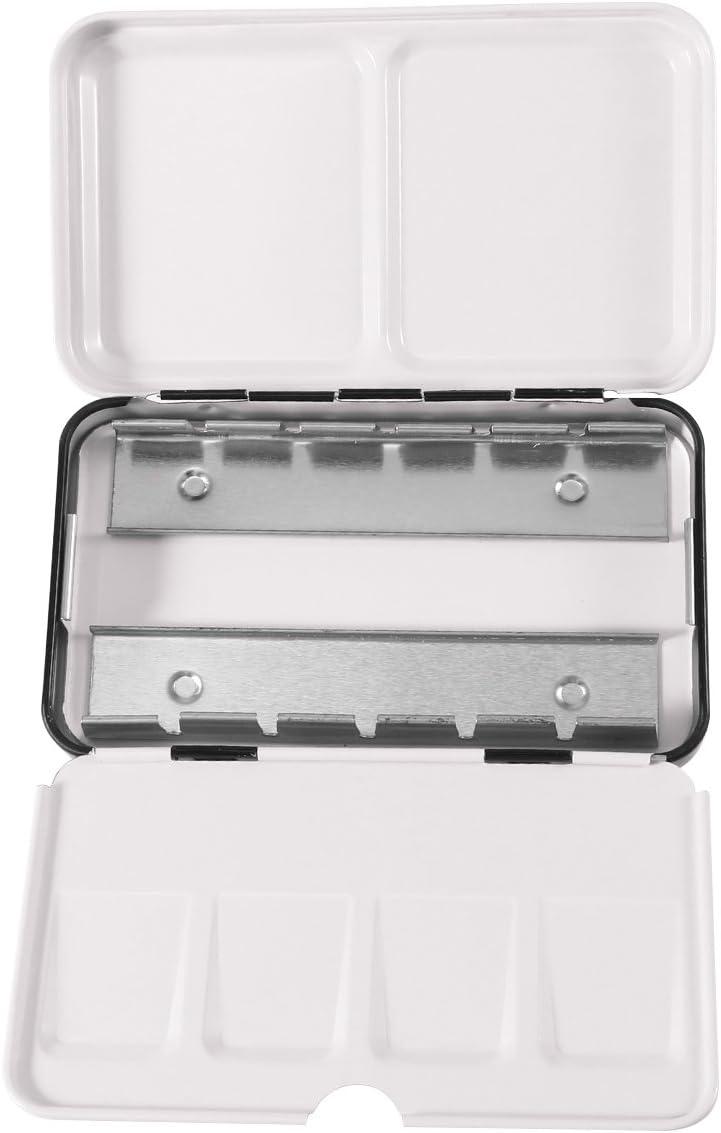 Caja vacía para acuarelas Rosenice, de metal, 12 compartimentos ...